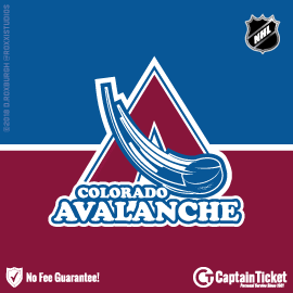 Buy Colorado Avalanche tickets cheaper with no fees at Captain Ticket™ - The Original No Fee Ticket Site!