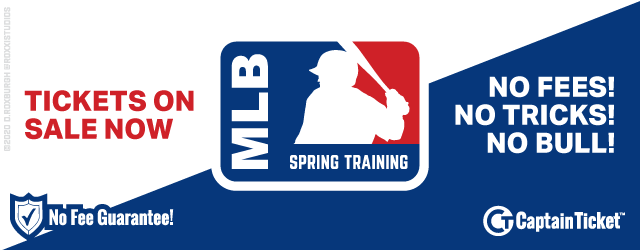 MLB Spring Training Tickets On Sale Now With No Service Fees