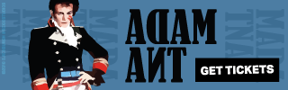 Ad Banner For Cheap Adam Ant Tickets