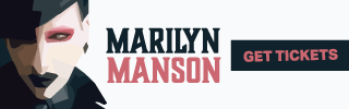 Ad Banner For Cheap Marilyn Manson Tickets