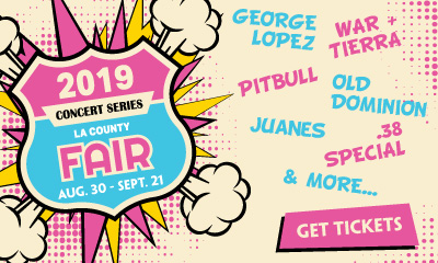 Banner Ad For LA County Fair Concert Tickets
