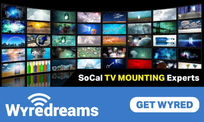 Banner Ad For WyreDreams Inc TV Mounting Experts In San Marino CA