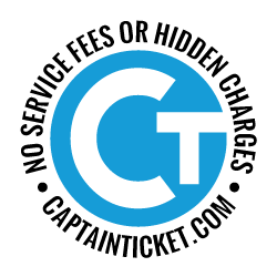 Tickets with no service fees or hidden charges since 1981