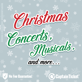 Buy Christmas Concert and Show tickets for less with no service fees at Captain Ticket™ - The Original No Fee Ticket Site! #FanArtByRoxxi