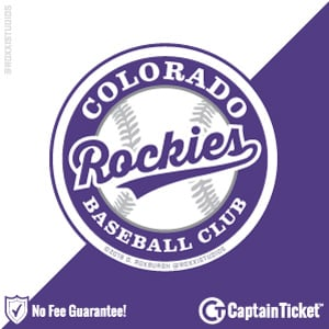 buy colorado rockies tickets for less with no fees captain ticket