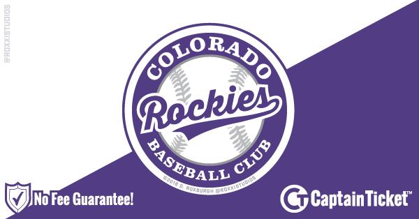 Colorado Rockies Tickets & Schedule - no service fees on any tickets at CaptainTicket.com