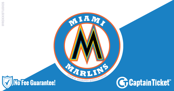 Get Miami Marlins tickets for less with everyday low prices and no service fees at Captain Ticket™ - The Original No Fee Ticket Site! #FanArtByRoxxi
