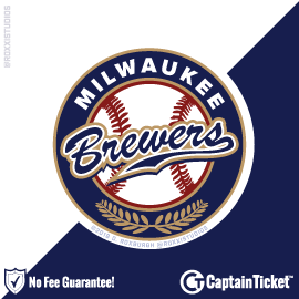 Buy Milwaukee Brewers tickets for less with no service fees at Captain Ticket™ - The Original No Fee Ticket Site! #FanArtByRoxxi