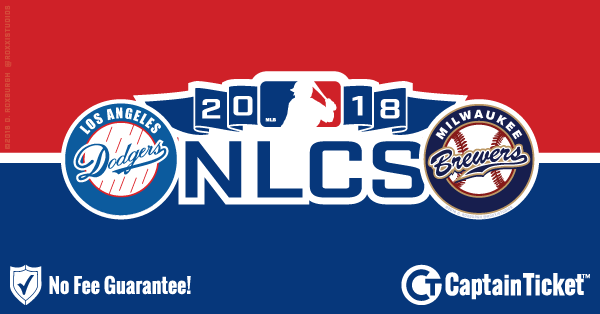 Buy 2018 NLCS (Dodgers Vs. Brewers) tickets cheaper with no fees at Captain Ticket™ - The Original No Fee Ticket Site!