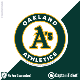 Buy Oakland Athletics tickets for less with no service fees at Captain Ticket™ - The Original No Fee Ticket Site! #FanArtByRoxxi