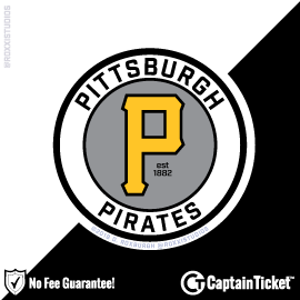 Buy Pittsburgh Pirates tickets for less with no service fees at Captain Ticket™ - The Original No Fee Ticket Site! #FanArtByRoxxi
