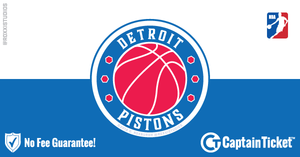 Buy Detroit Pistons tickets cheaper with no fees at Captain Ticket™ - The Original No Fee Ticket Site!