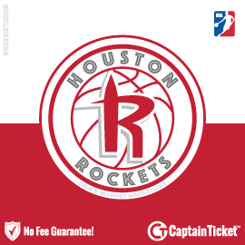Buy Houston Rockets tickets cheaper with no fees at Captain Ticket™ - The Original No Fee Ticket Site!