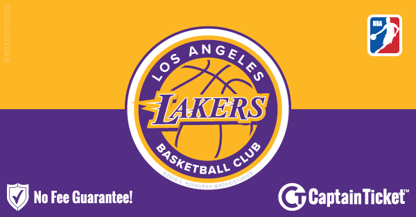 Buy Los Angeles Lakers tickets cheaper with no fees at Captain Ticket™ - The Original No Fee Ticket Site!