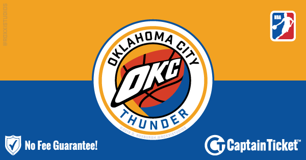 Buy Oklahoma City Thunder tickets cheaper with no fees at Captain Ticket™ - The Original No Fee Ticket Site!