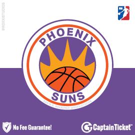 Buy Phoenix Suns tickets cheaper with no fees at Captain Ticket™ - The Original No Fee Ticket Site!