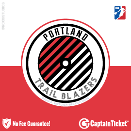 Buy Portland Trail Blazers tickets cheaper with no fees at Captain Ticket™ - The Original No Fee Ticket Site!