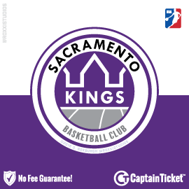 Buy Sacramento Kings tickets cheaper with no fees at Captain Ticket™ - The Original No Fee Ticket Site!
