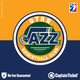 Buy Utah Jazz tickets cheaper with no fees at Captain Ticket™ - The Original No Fee Ticket Site!