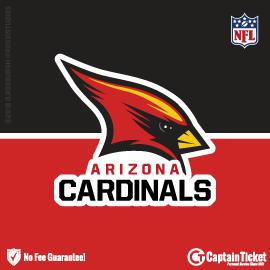 Buy Arizona Cardinals tickets for less with no service fees at Captain Ticket™ - The Original No Fee Ticket Site! #FanArtByRoxxi
