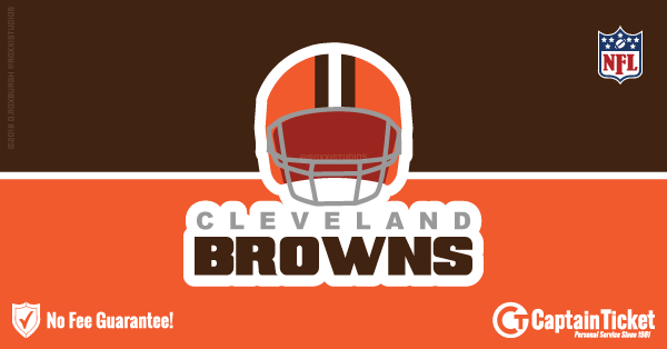 Buy Cleveland Browns tickets cheaper with no fees at Captain Ticket™ - The Original No Fee Ticket Site!