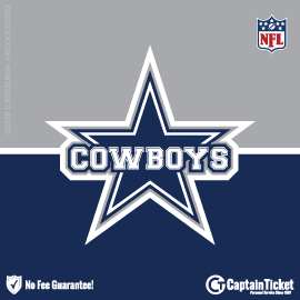 Buy Dallas Cowboys tickets cheaper with no fees at Captain Ticket™ - The Original No Fee Ticket Site!