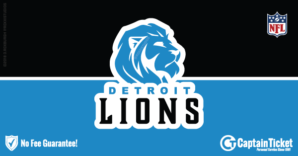 Buy Detroit Lions tickets cheaper with no fees at Captain Ticket™ - The Original No Fee Ticket Site!