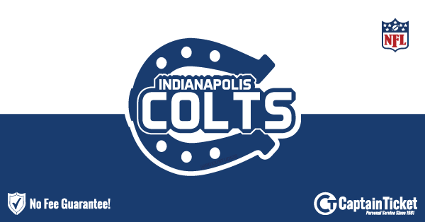 Buy Indianapolis Colts tickets cheaper with no fees at Captain Ticket™ - The Original No Fee Ticket Site!