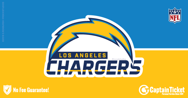 Buy Los Angeles Chargers tickets cheaper with no fees at Captain Ticket™ - The Original No Fee Ticket Site!