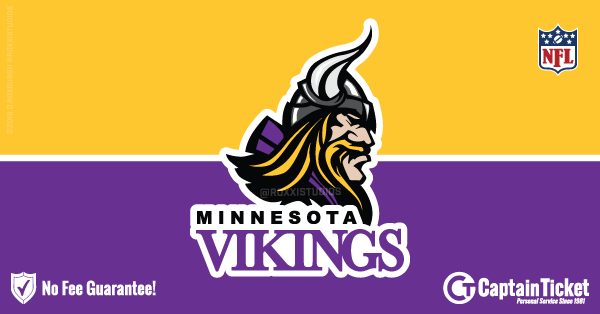Buy Minnesota Vikings tickets cheaper with no fees at Captain Ticket™ - The Original No Fee Ticket Site!