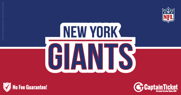 Buy New York Giants tickets cheaper with no fees at Captain Ticket™ - The Original No Fee Ticket Site!