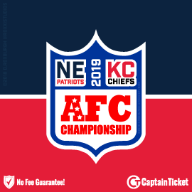 Buy AFC Championship tickets (Patriots at Chiefs) cheaper with no fees at Captain Ticket™ - The Original No Fee Ticket Site!