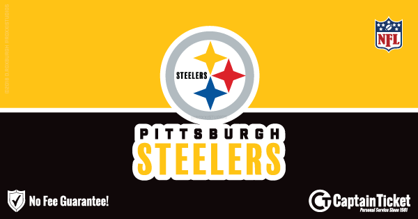 Buy Pittsburgh Steelers tickets cheaper with no fees at Captain Ticket™ - The Original No Fee Ticket Site!