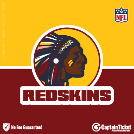 Buy Washington Redskins tickets cheaper with no fees at Captain Ticket™ - The Original No Fee Ticket Site!