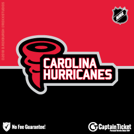 Buy Carolina Hurricanes tickets cheaper with no fees at Captain Ticket™ - The Original No Fee Ticket Site!