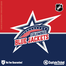 Buy Columbus Blue Jackets tickets cheaper with no fees at Captain Ticket™ - The Original No Fee Ticket Site!
