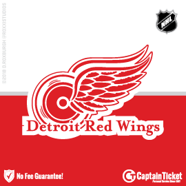 Buy Detroit Red Wings tickets for less with no service fees at Captain Ticket™ - The Original No Fee Ticket Site! #FanArtByRoxxi