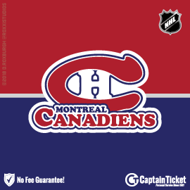 Buy Montreal Canadiens tickets cheaper with no fees at Captain Ticket™ - The Original No Fee Ticket Site!