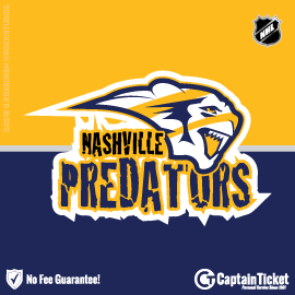 Buy Nashville Predators tickets cheaper with no fees at Captain Ticket™ - The Original No Fee Ticket Site!