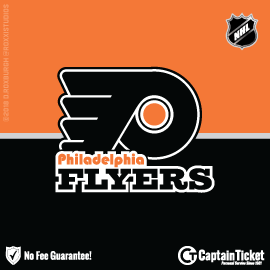 Buy Philadelphia Flyers tickets for less with no service fees at Captain Ticket™ - The Original No Fee Ticket Site! #FanArtByRoxxi