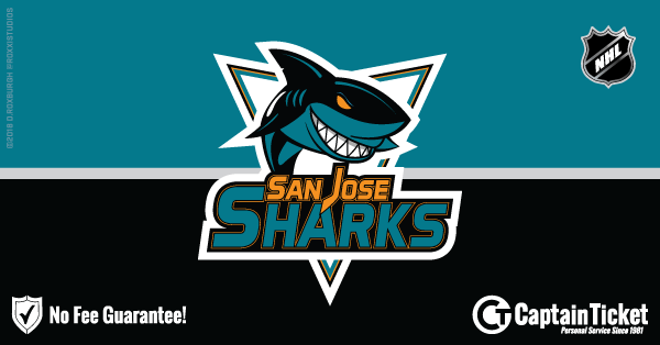 Buy San Jose Sharks tickets cheaper with no fees at Captain Ticket™ - The Original No Fee Ticket Site!