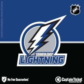 Buy Tampa Bay Lightning tickets cheaper with no fees at Captain Ticket™ - The Original No Fee Ticket Site!