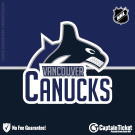 Buy Vancouver Canucks tickets cheaper with no fees at Captain Ticket™ - The Original No Fee Ticket Site!