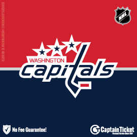 Buy Washington Capitals tickets cheaper with no fees at Captain Ticket™ - The Original No Fee Ticket Site!