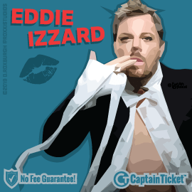 Buy Eddie Izzard tickets for less with no service fees at Captain Ticket™ - The Original No Fee Ticket Site! #FanArtByRoxxi