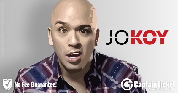 Buy Jo Koy tickets cheaper with no fees at Captain Ticket™ - The Original No Fee Ticket Site!