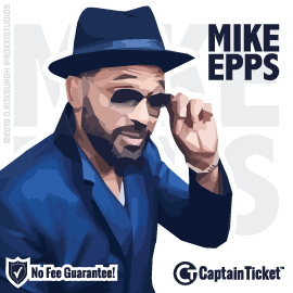Buy Mike Epps tickets cheaper with no fees at Captain Ticket™ - The Original No Fee Ticket Site!