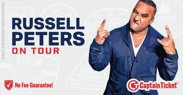 Buy Russell Peters tickets cheaper with no fees at Captain Ticket™ - The Original No Fee Ticket Site!