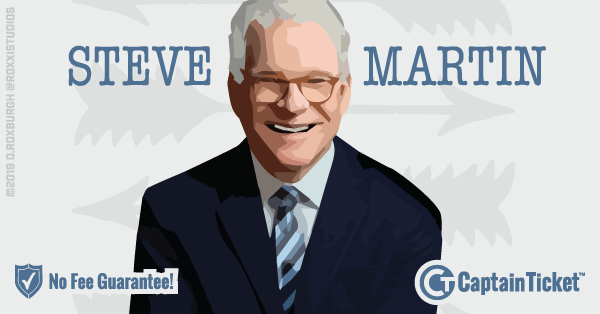 Buy Steve Martin tickets cheaper with no fees at Captain Ticket™ - The Original No Fee Ticket Site!