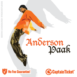 Buy Anderson Paak tickets cheaper with no fees at Captain Ticket™ - The Original No Fee Ticket Site!